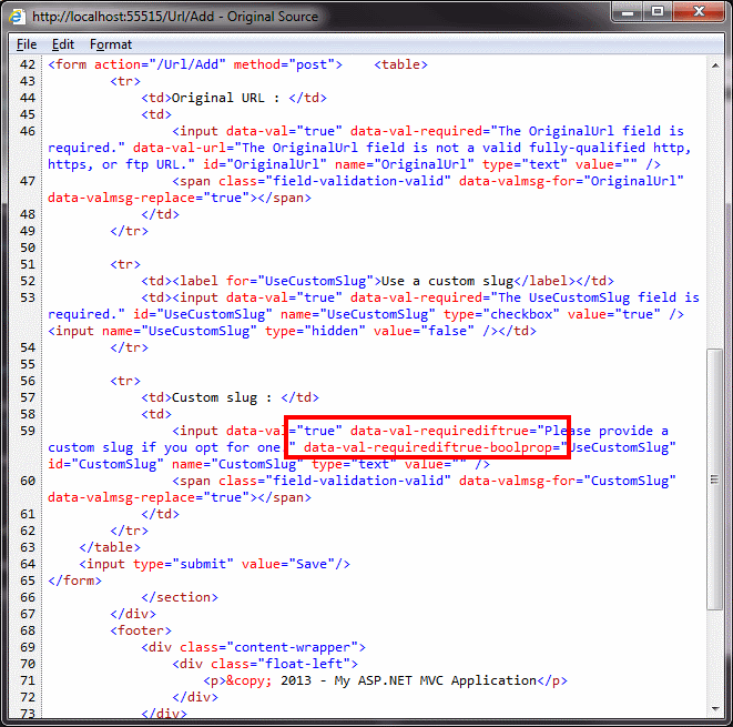 Building Client (JavaScript) Custom Validation in ASP NET MVC 4